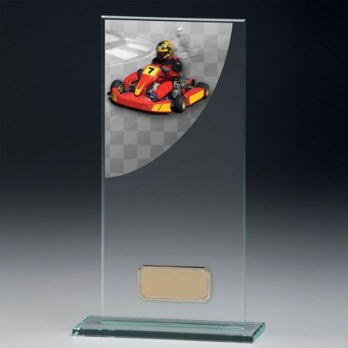 Colour Curve Go-Kart Jade Glass Award 160mm